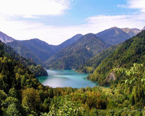 озеро Рица Фото сверху