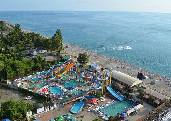 Единственный аквапарк в Абхазии Гагра